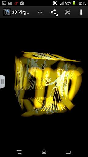 3D Virgo Zodiac LWP