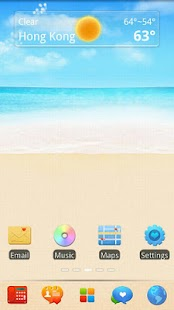 Summer Go Launcher EX Theme - screenshot thumbnail