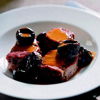 Sautéed Pork Tenderloin with Prunes.