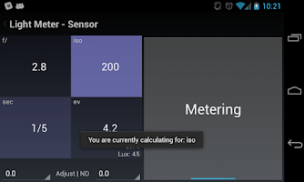 Screenshot of Light Meter Tools - Trial