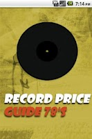 Screenshot of Vinyl Record Price Guide 78's