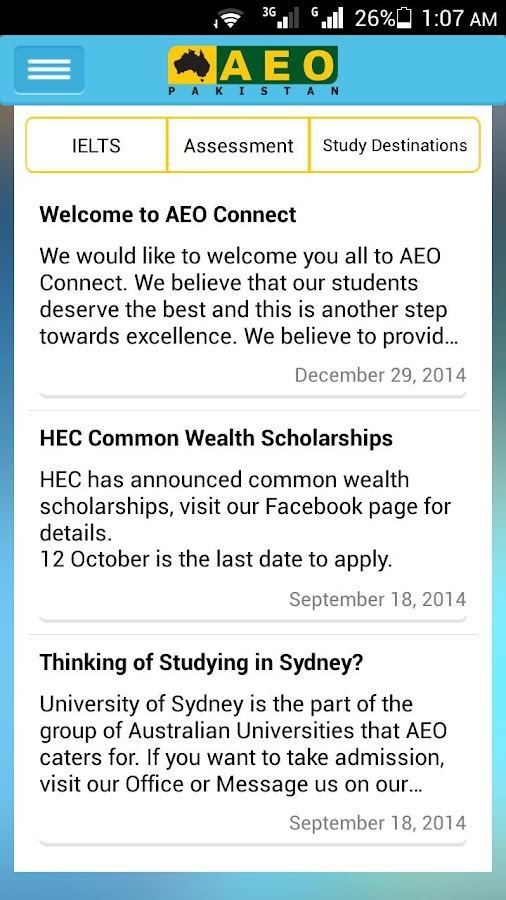 AEO Connect- screenshot