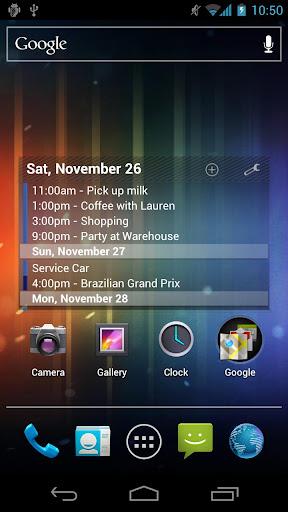 Pure Calendar widget agenda v2.9.1