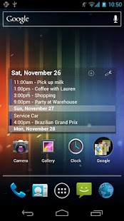 Pure Calendar widget (agenda)- screenshot thumbnail