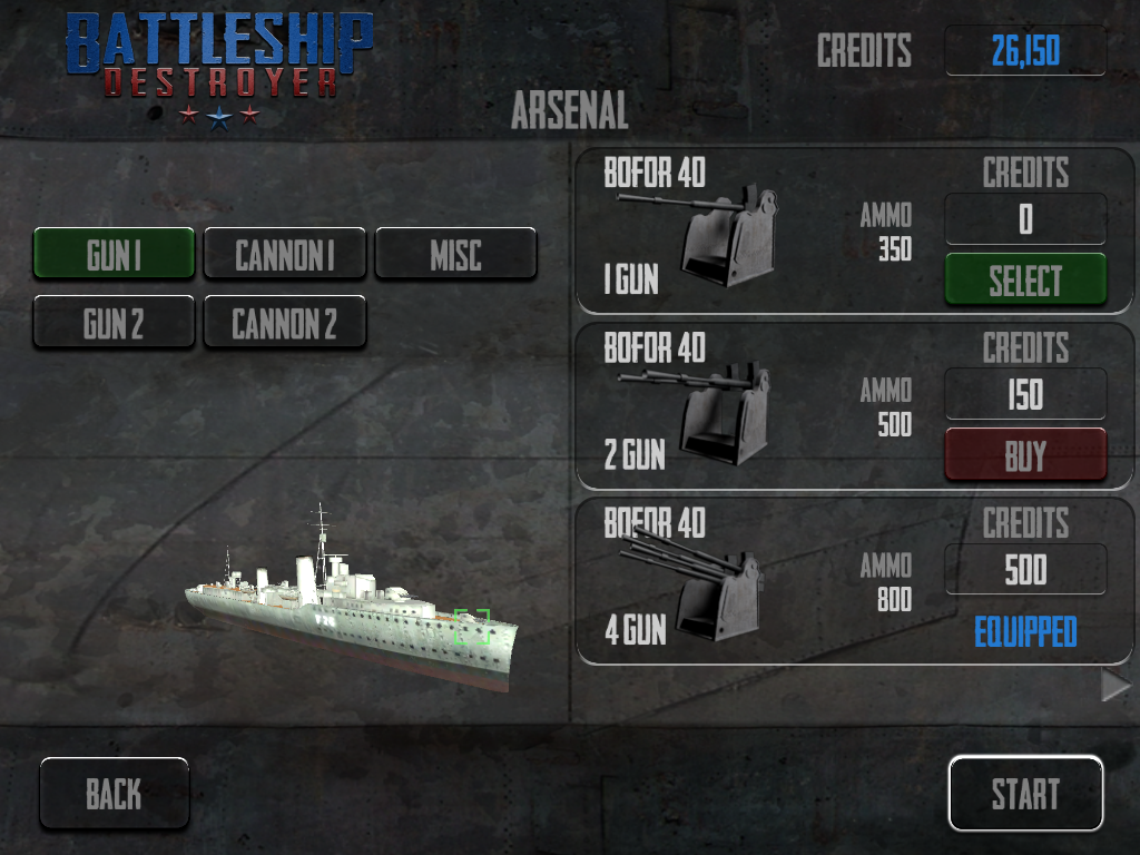 Battleship Destroyer Lite - screenshot