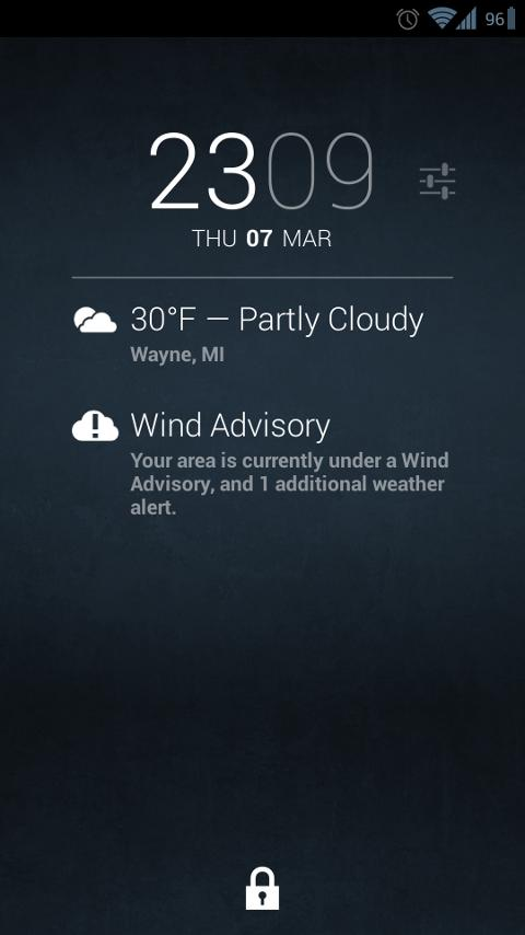 Weather Alerts for DashClock - screenshot