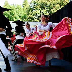 Fiesta! by Kati Garner - People Musicians & Entertainers ( skirt, dancing, red, spanish, dancers )