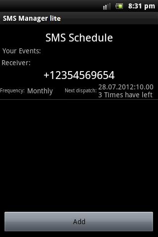 SMS Manager lite- screenshot