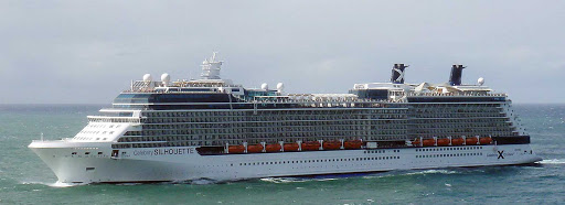 Celebrity-Silhouette-San-Juan - Celebrity Silhouette sails into San Juan, Puerto Rico.