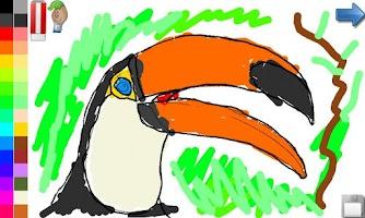 Screenshot of Coloring Book: Birds ! FREE