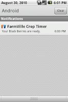 Screenshot of FarmVille Crop Timer Free