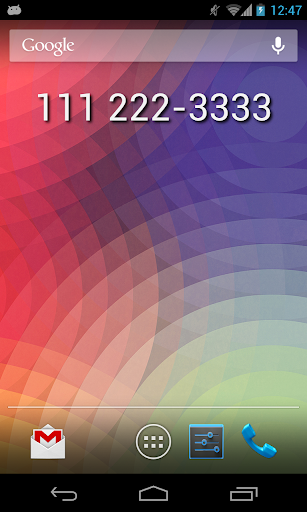 My Phone Number Widget
