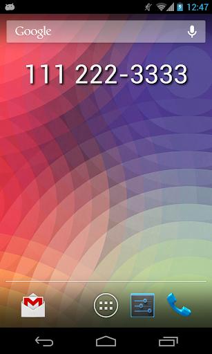 My Phone Number Widget