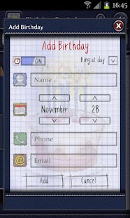 Birthdays Reminder - screenshot thumbnail