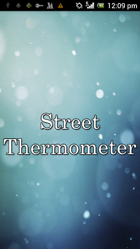 Street Thermometer