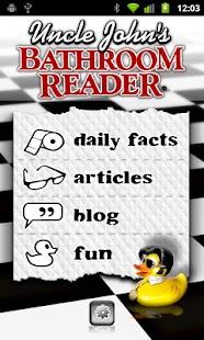Uncle John's Bathroom Reader- screenshot thumbnail
