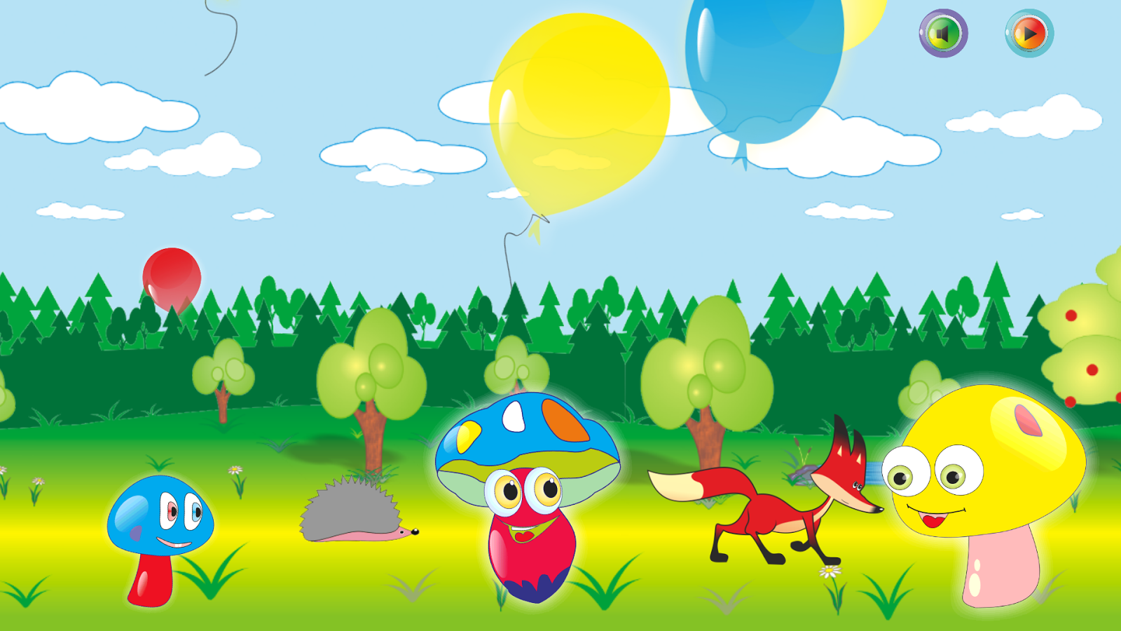 Toy Balloons Funny Mushrooms Android Apps On Google Play