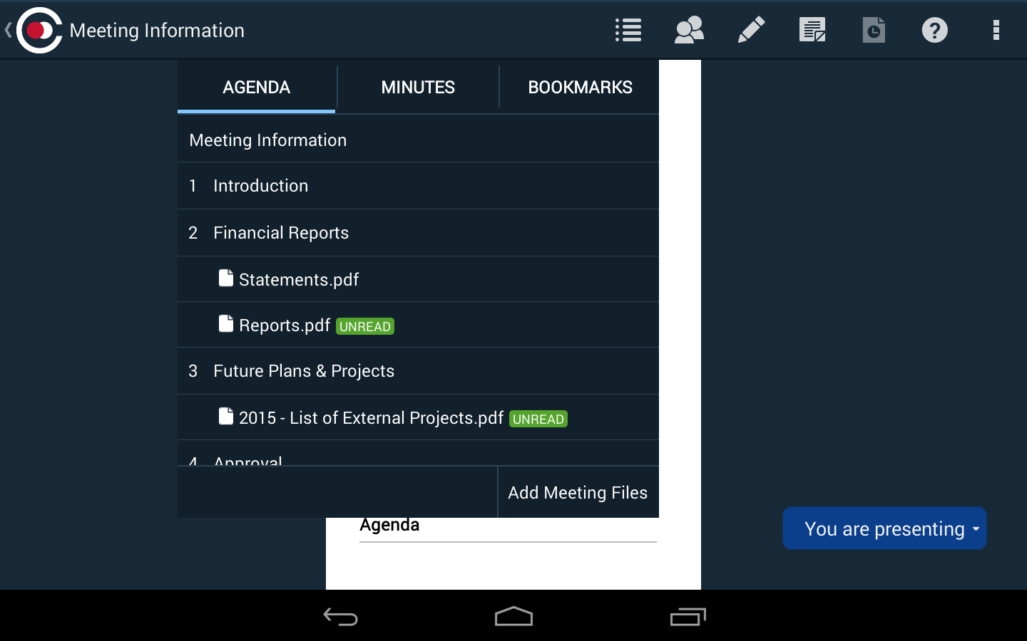 Azeus Convene Board Portal- screenshot
