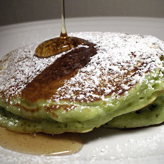 Green Tea and Coconut Pancakes.