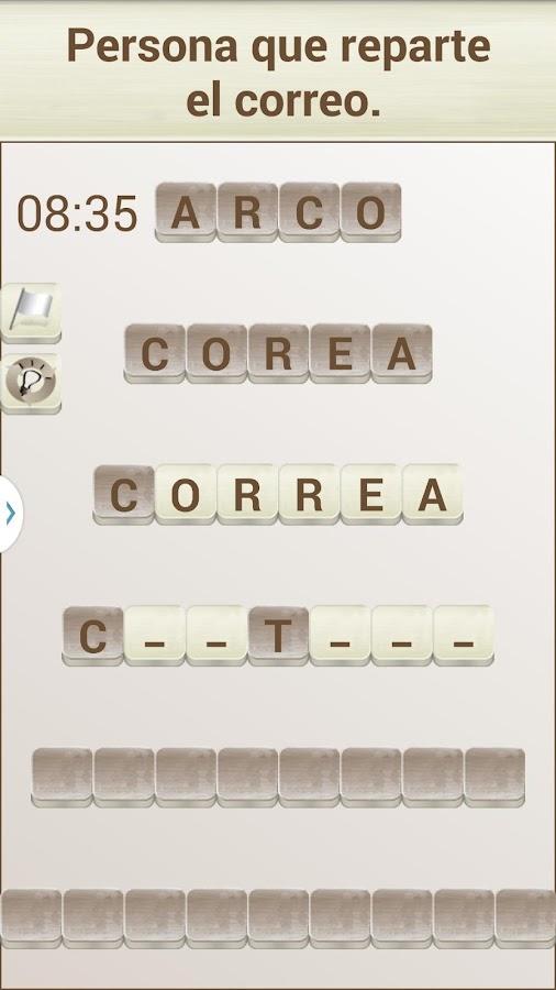 Juego de Palabras en Español - screenshot