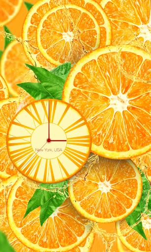 FREE Orange clock