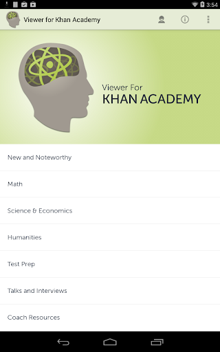 Viewer for Khan Academy