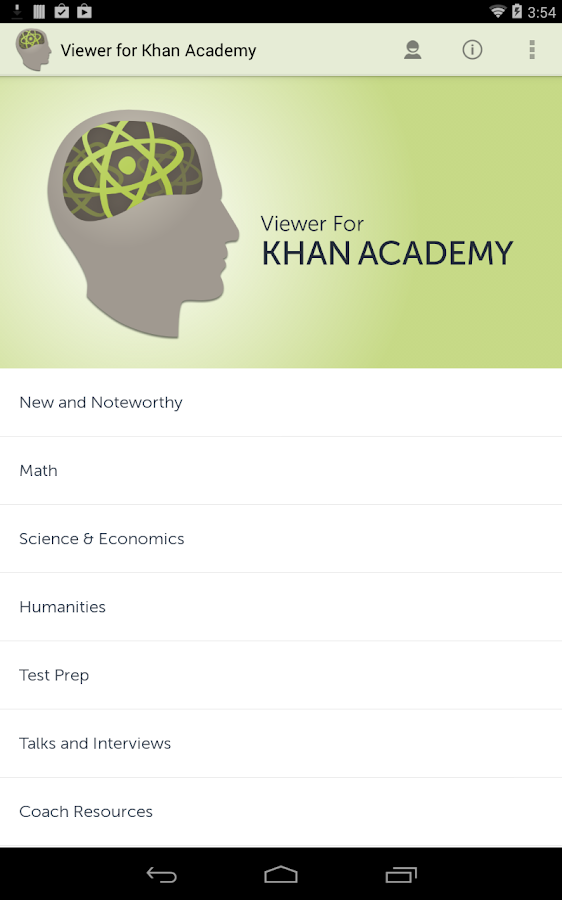 Viewer for Khan Academy - screenshot
