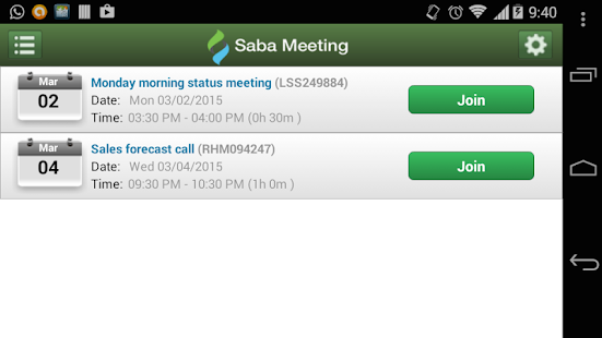 Saba Meeting - screenshot thumbnail