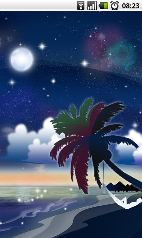 Galaxy Beach Live Wallpaper- screenshot