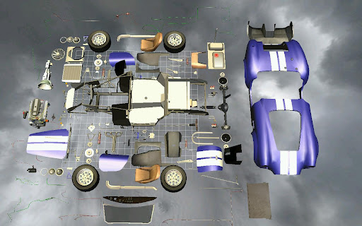 Car Disassembly 3D image   7