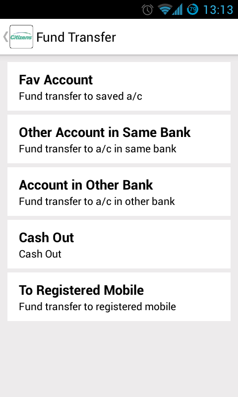 Citizens Mobile Banking - screenshot
