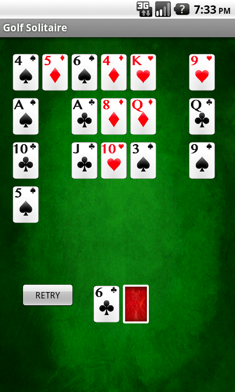 card games solitaire golf