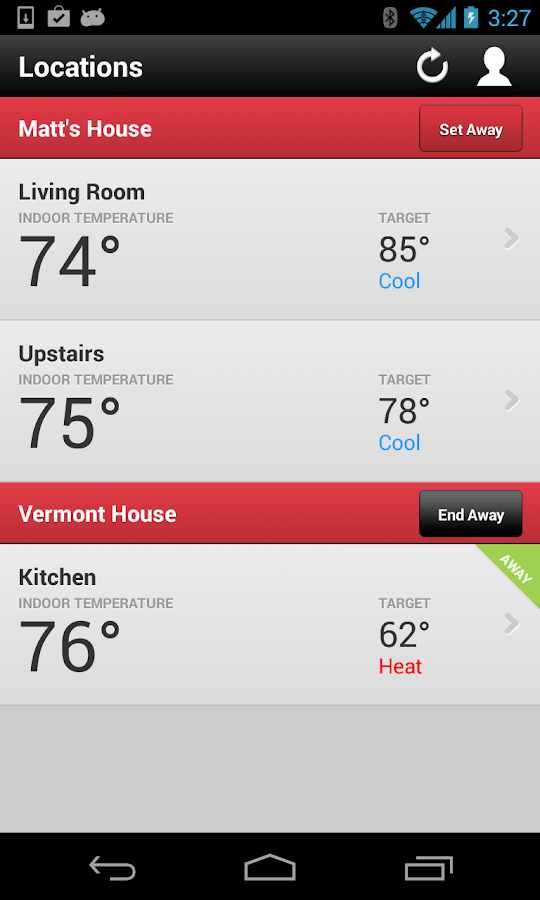 Wi-Fi Enabled Radio Thermostat - screenshot
