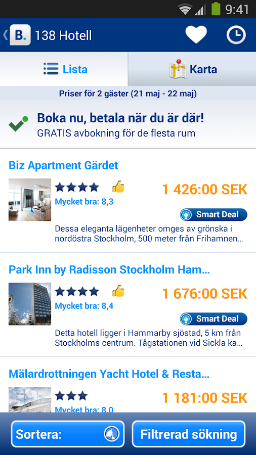 Booking.com – 430 000 hotell - screenshot