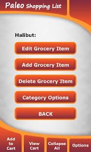 Paleo Diet Shopping List- screenshot thumbnail