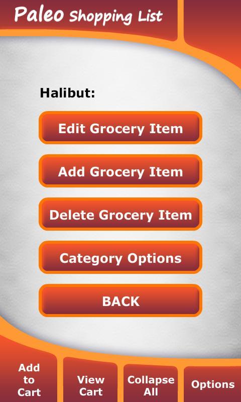 Paleo Diet Shopping List- screenshot