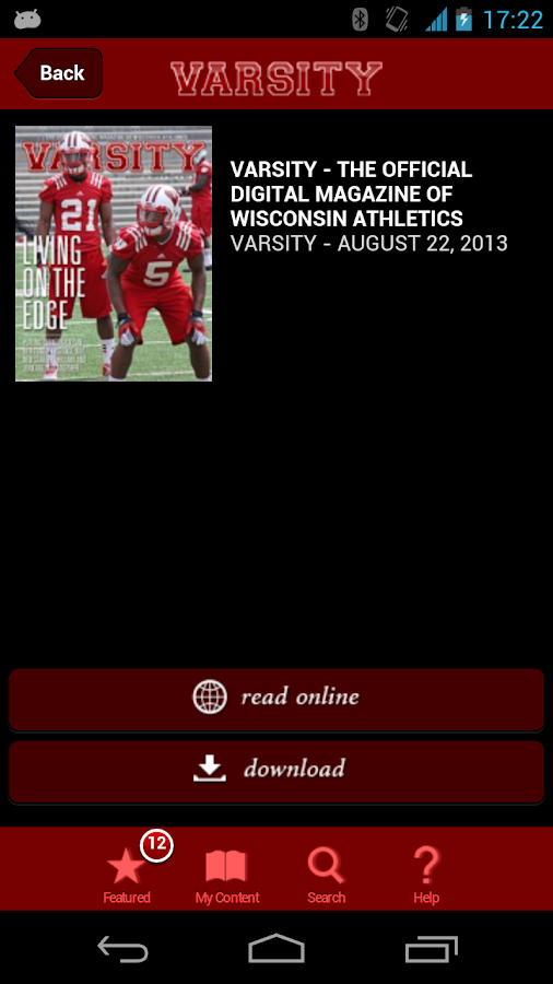 Varsity Magazine - screenshot