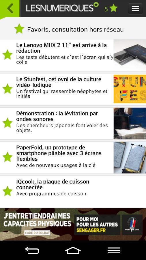 Les Numériques- screenshot