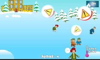 Screenshot of SnowBall Fight Winter Game HD