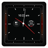 Red Lava Analog Watchface