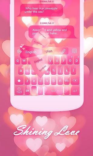 Shining Love Keyboard Theme