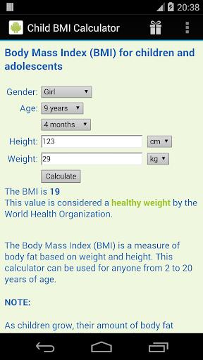 Child BMI Calculator