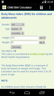 Child BMI Calculator