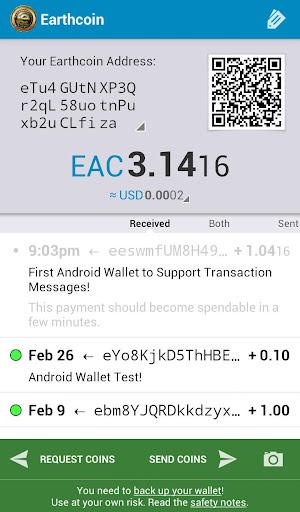 EarthCoin Wallet