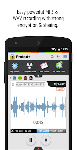 Protect+ MP3/WAV Voice Recorder w/ Encryption Pro - náhled
