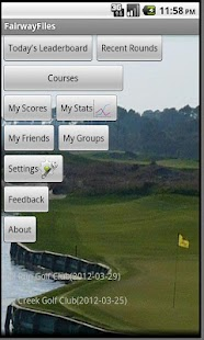 FairwayFiles Golf Scorecard- screenshot thumbnail