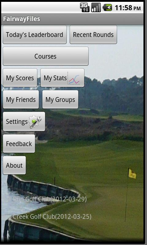 FairwayFiles Golf Scorecard- screenshot