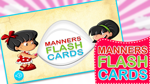 Kids Manners Flash Cards