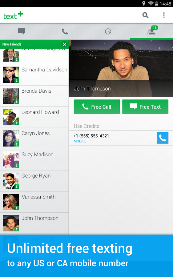 textPlus Gold Free Text+Calls - screenshot