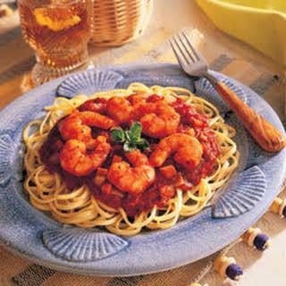 Mediterranean Shrimp & Vegetable Linguine.